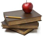 Bild Apfel auf Buch